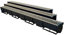 Bodenrinne Entwässerungsrinne Rinne Stahlrost verzinkt 1,5Tonnen Tiefe 90cm 1 M