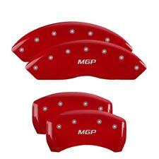 2018 Toyota Tundra Red MGP Disc Brake Caliper Covers Front Rear 16077SMGPRD