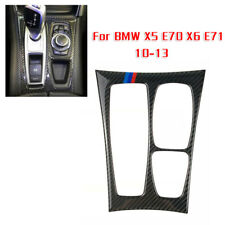 Carbon Fiber Gear Shift Box Panel Trim Frame Cover For BMW X5 E70 X6 E71 10-13