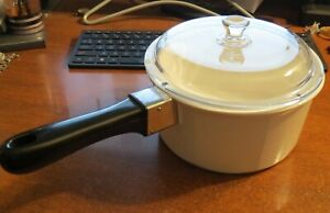 NOUVEAU Princess House Ceramic Cookware 2 QT Sauce Pan Pot W/ Handle & Lid MINT!