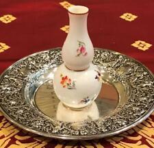"""Late 19th Century Meissen Miniature Vase / Scent Perfume Bottle 3 1/2"""" Tall"""