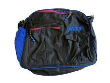 Vintage 90s Prince Tennis Racquet Duffle Messenger Black/Blue/Pink Shoulder Bag