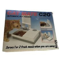 CAT MATE C20 Automatic Pet Feeder For Cat - Kitten Puppies Small Dog BOX & Instr