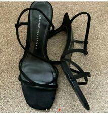 Zara Black Strappy Sandals Size 4 37 shoes kitten heels mid heeled