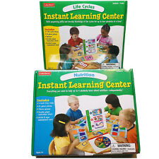 SET OF 2 - Lakeshore Learning Instant Learning Center: Life Cycles  & Nutrition