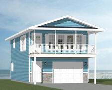 20x40 House -- 1 Bedroom 1.5 Bath -- 1,053 sq ft -- PDF Floor Plan -- Model 7L
