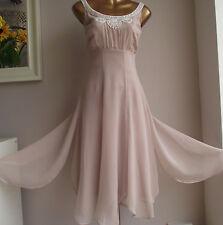 STUNNING MONSOON MINK NUDE FLOATY IVORY PEARL EMBELLISHED MOTB WEDDING DRESS 20