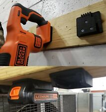 Black & Decker 20V Wall/Under Shelf Battery & Tool Holder Mount Combo