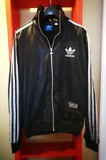 Adidas Chile 62 Tracksuit Jacket - Rare black silver shiny/wet look  size S