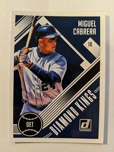 2018 Donruss Baseball #9 Miguel Cabrera Detroit Tigers Diamond Kings