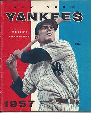 Vintage 1957 New York Yankees Yearbook