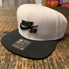 113bb40d03830 628683-104 Nike SB Icon Adjustable Snapback Hat White Black
