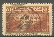 """FRANCE STAMP TIMBRE N°262B """" PONT DU GARD 20F DENTELE 11 """" OBLITERE TB"""