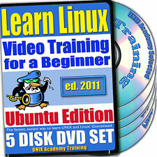 Learn Linux, 5-DVD Video Training Ubuntu Set, Ed. 2011