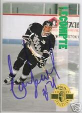 ERIC LECOMPTE Hull Olympiques 1993 CLASSIC AUTOGRAPHED HOCKEY CARD JSA