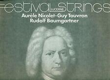 BACH SUITES POUR ORCHESTRE 1-4 NICOLET GUY TOUVRON RUDOLF BAUMGARTNER 2-LP's