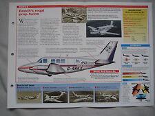 Aircraft of the World Card 58 , Group 2 - Beechcraft 65 Queen Air