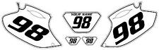 2001-2002 Yamaha WR250F Pre-Printed White Backgrounds Black Pinstripe