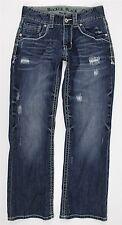 MINT Buckle Black Five Fit Bootcut Blue Jeans MENS 29 x 30 Destroyed Wash