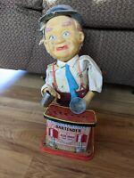 Vintage Charlie Weaver Bartender Tin Toy - Doesn't Work