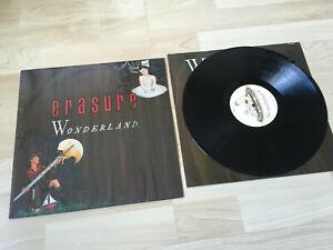 ERASURE WONDERLAND LP ORIGINAL VINYL 1986 VG+