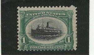 USA 1901 MHR FAST LAKE NAVIGATION GREEN AND BLACK 1c
