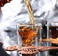 75ml Cool Party Crystal Creative Skull Head Clear Shot Glass Vodka Wine Cup Mug