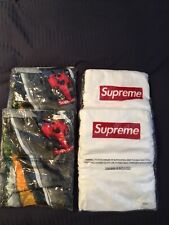 New S/S14 Supreme Red Box Logo Beach Towel Set White 100% Authentic  Gp Towels 4