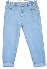 Topshop MOM High Waisted Vintage BLUE Tapered Jeans Size 14 W32 L32