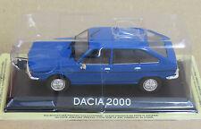 "DIE CAST "" DACIA 2000 "" LEGENDARY CARS SCALA 1/43"