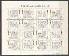 China Macau 2000 Mini S/S Art of Tea stamp