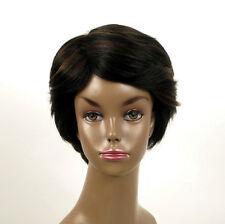 perruque afro femme 100% cheveux naturel méchée noir/cuivré WHIT 04/1b30