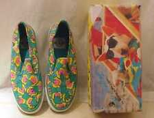 VINTAGE SPUDS MACKENZIE SIZE 7 1/2 DECK SHOES TENNIS SHOES WITH BOX #2