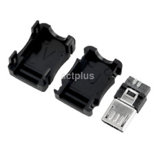 10 Pcs Micro USB 5 Pin Male Connector Port Solder Plug Plastic Cover for DIY L20