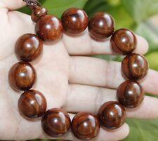 100% Natural Chinese Hainan Huanghuali Preyer Buddha Beads Bracelet 海南黄花梨紫油梨佛珠手串