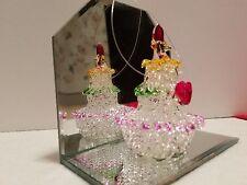 SPUN GLASS CHRISTMAS ORNAMENTS * NICE * (Mirrored Christmas Tree)