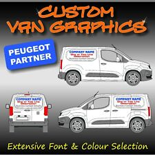 Van Graphics Sign Writing Vehicle lettering signs Peugeot Partner