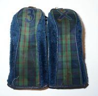 2 x Vintage Tartan Fairway Wood Head Covers