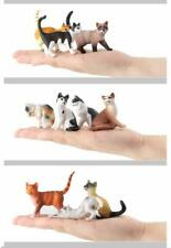 10 Pcs Realistic Cat Figurines Hand Painted Emulational Cats Animals Toy Set