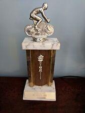 Vintage Bicycle Racing Trophy, Metal Topper,  Gerard De Baets 1966 Memorial Race