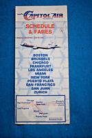 Capitol Air - Schedule & Fares - May 2 thru June 15, 1982