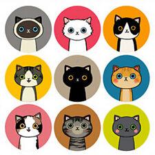 Cartoon Cat Illustration Stickers Scrapbooking Decoration Paper Card Fun DIY 2X