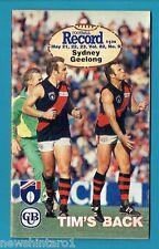 #NN. AUSTRALIAN RULES FOOTBALL RECORD, SYDNEY SWANS V GEELONG  21-23/5/1993