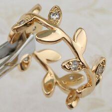 Size 6 7 8 9 10 Amazing Stylish White CZ Jewelry Yellow Gold Filled Ring R2516