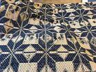 moprimitivepast Antique Coverlet Piece Blue STAR table primitive centerpiece #4