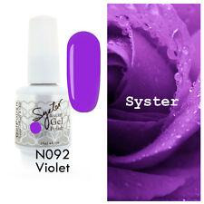 SYSTER 15ml Nail Art Soak Off Color UV Gel Polish UV Lamp N092 - Violet