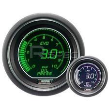 Prosport 52mm Evo coche Manómetro de aceite Bar Verde Y Blanco Lcd Pantalla Digital