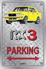 Parking Sign Metal MazdA RX3 4-door-05 - Checkerplate Look