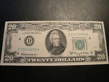 (1) $20.00 Series 1963-A FEDERAL RESERVE NOTE XF+ CIRCULATED CONDITION