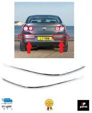 Nouveau VW Passat B6 pare-chocs arrière chrome Molding Strip Trim Set Paire 06-10 gauche + droite